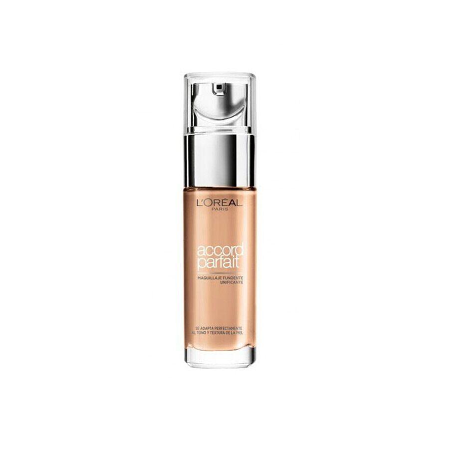 l'oréal paris 2.d - 2.w: golden almond accord parfait, effetto naturale, arricchito con acido ialuronico, 1.5n lin/linen fondotinta 30ml