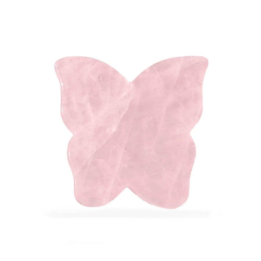 crystallove pietra farfalla gua sha per il massaggio del viso in quarzo rosa pietra massaggio viso