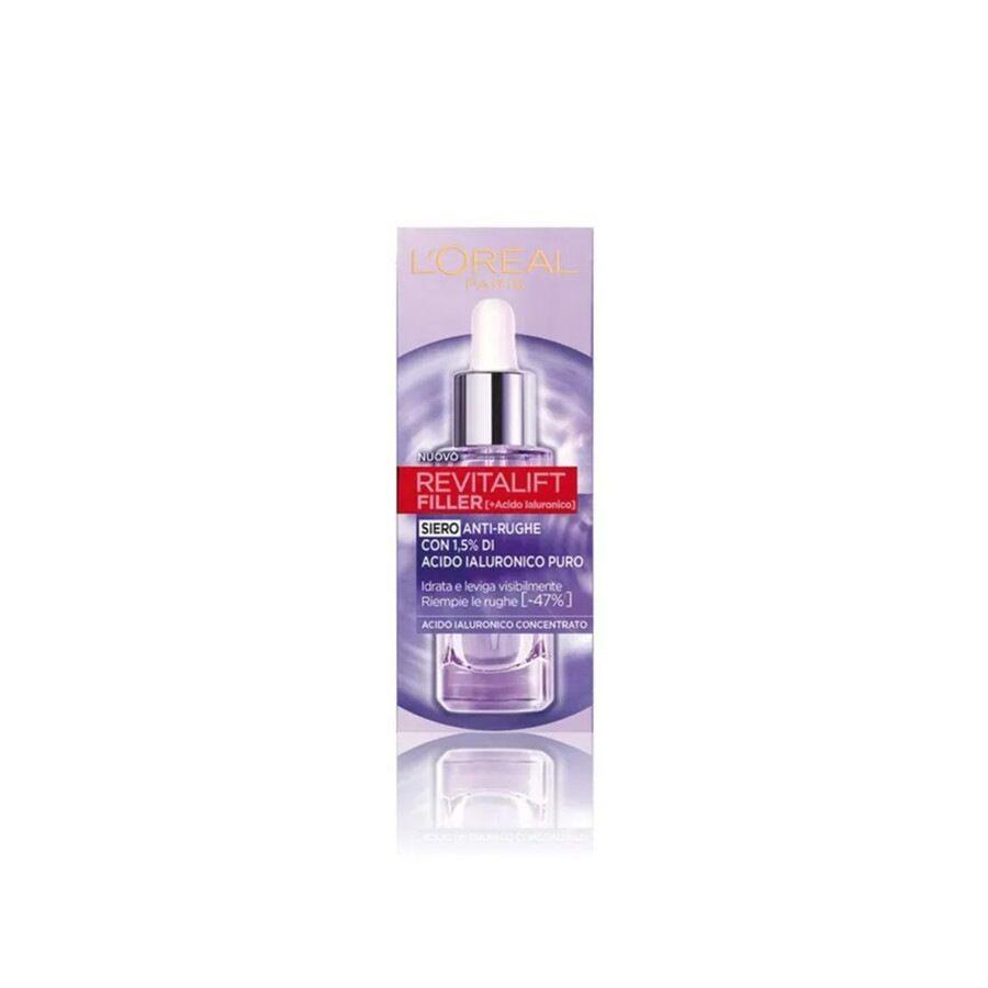 l'oréal paris revitalift filler, siero anti- rughe in pipetta arricchito di 1,5% di acido ialuronico 30ml