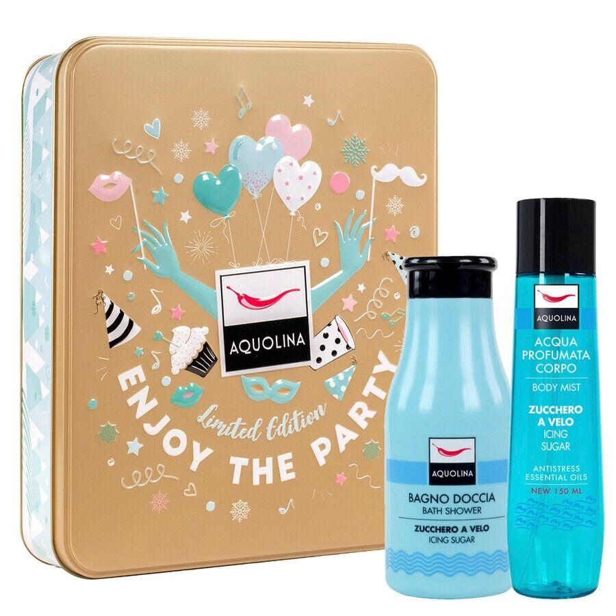 aquolina zucchero a velo box: bagno doccia 250 ml + acqua profumata corpo 150 ml cofanetto bagno