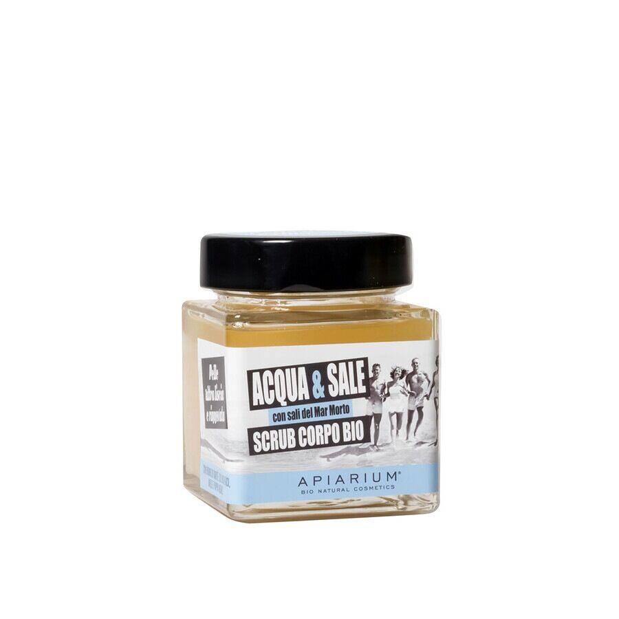 apiarium scrub corpo bio acqua e sale esfoliante corpo 380g