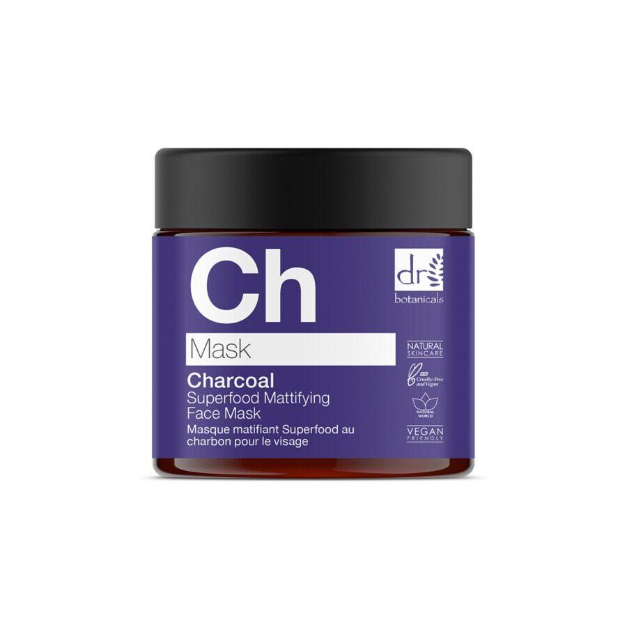 dr botanicals charcoal superfood mattifying face mask maschera 60ml