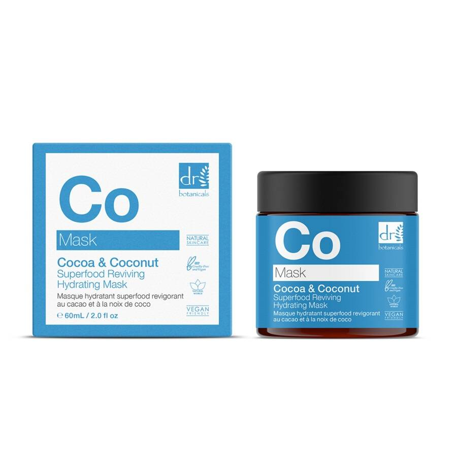 dr botanicals cocoa & coconut superfood reviving hydrating mask maschera 60ml