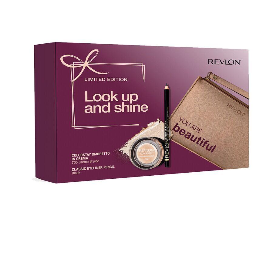 revlon matita occhi nera & ombretto in crema in edizione limitata cofanetto make up