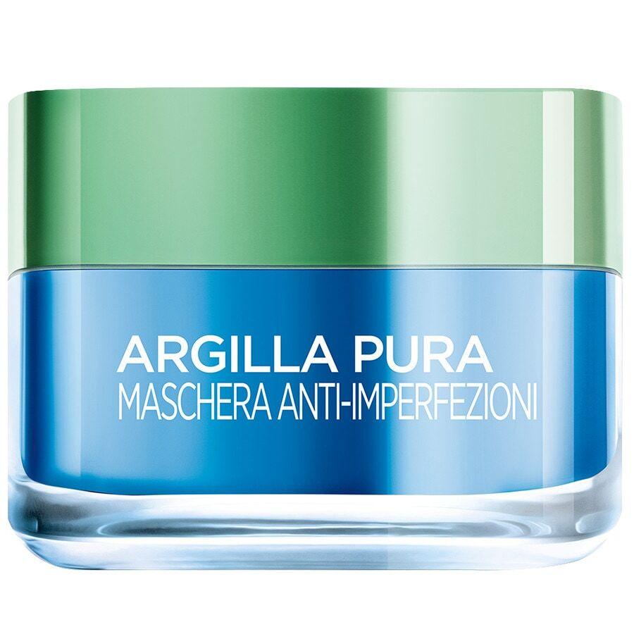 l'oréal paris argilla pura, azione anti-imperfezioni, agisce sui punti neri e ristringe pori, con alga marina e 3 argille minerali, maschera 50ml