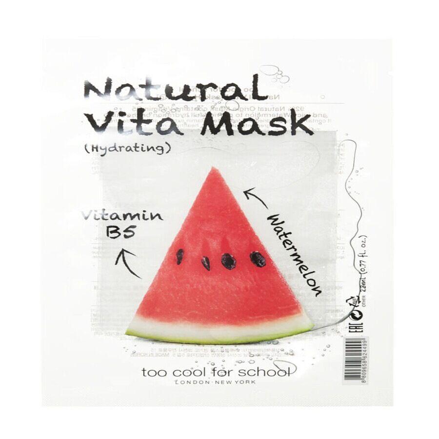 too cool for school natural vita mask  hydrating (b5/watermelon) maschera viso