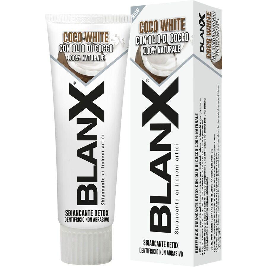 blanx dentifricio coco white sbiancante con olio di cocco 100% naturale 75ml