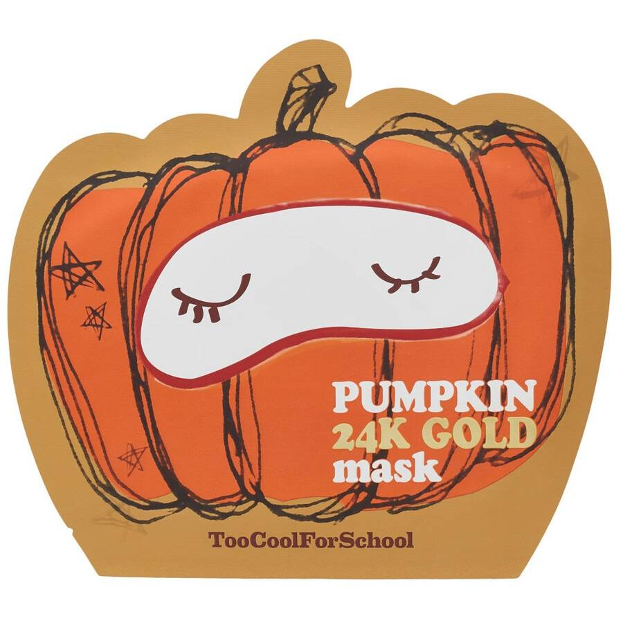 too cool for school pumpkin 24k gold mask maschera viso 25g