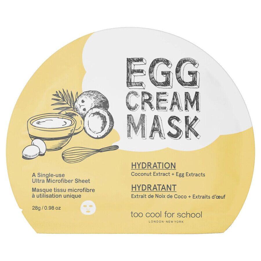too cool for school egg cream mask hydration maschera viso 28g