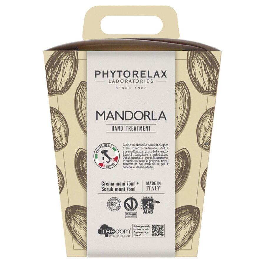 Phytorelax MANDORLA VEGAN & ORGANIC GIFT BOXCREMA MANI & UNGHIE + SCRUB ESFOLIANTE MANI Cofanetto Trattamento Mani