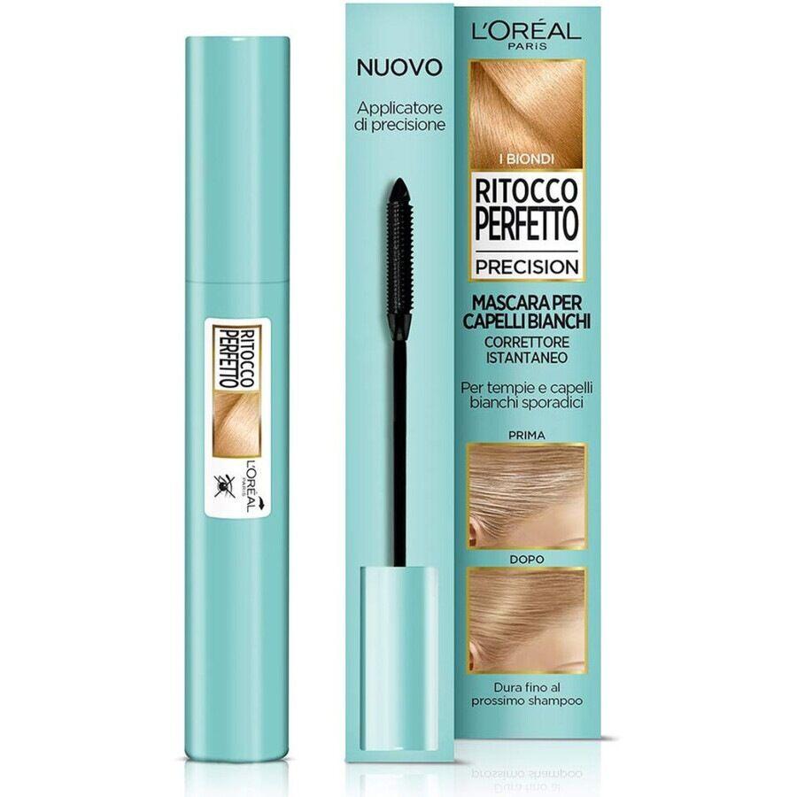 l'oréal paris mascara i biondi ritocco perfetto precision, ideale per capelli bianchi radi e tempie, non macchia, i biondi colorazione capelli 8ml