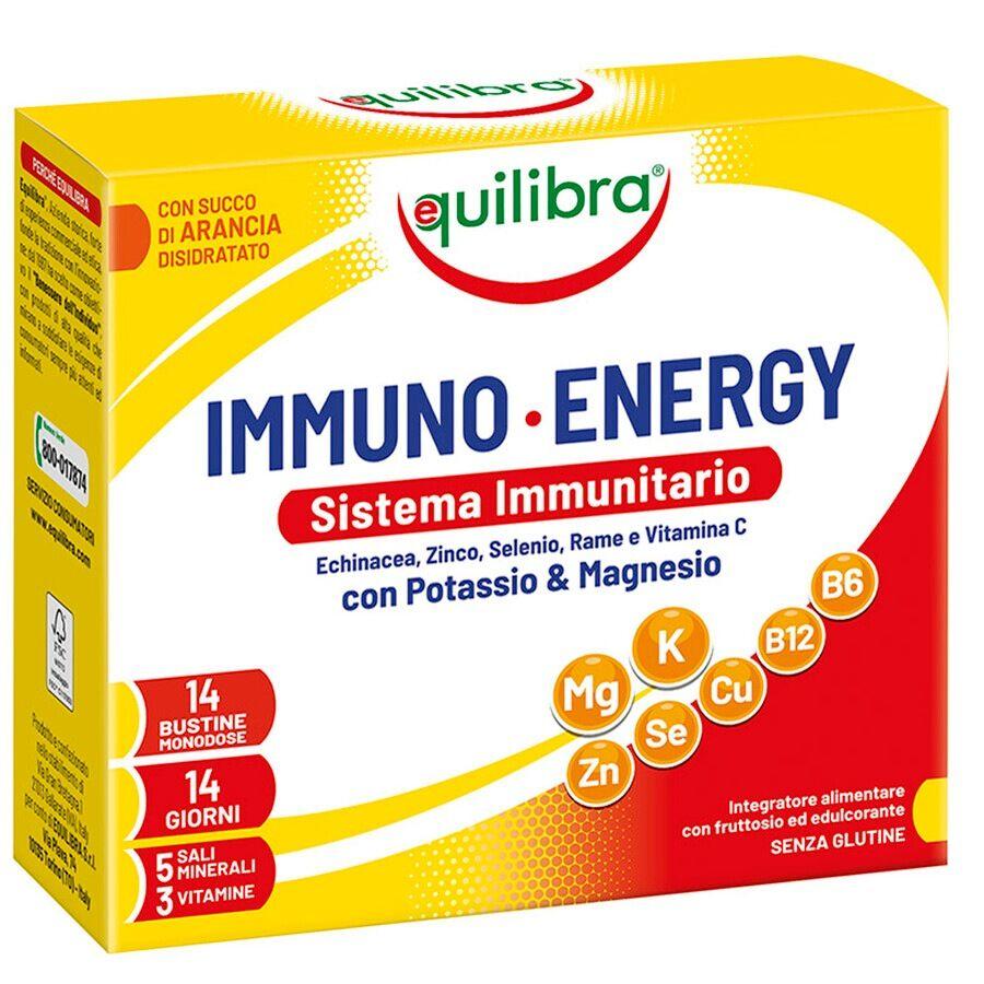 equilibra immuno energy, 14 bustine integratore alimentare