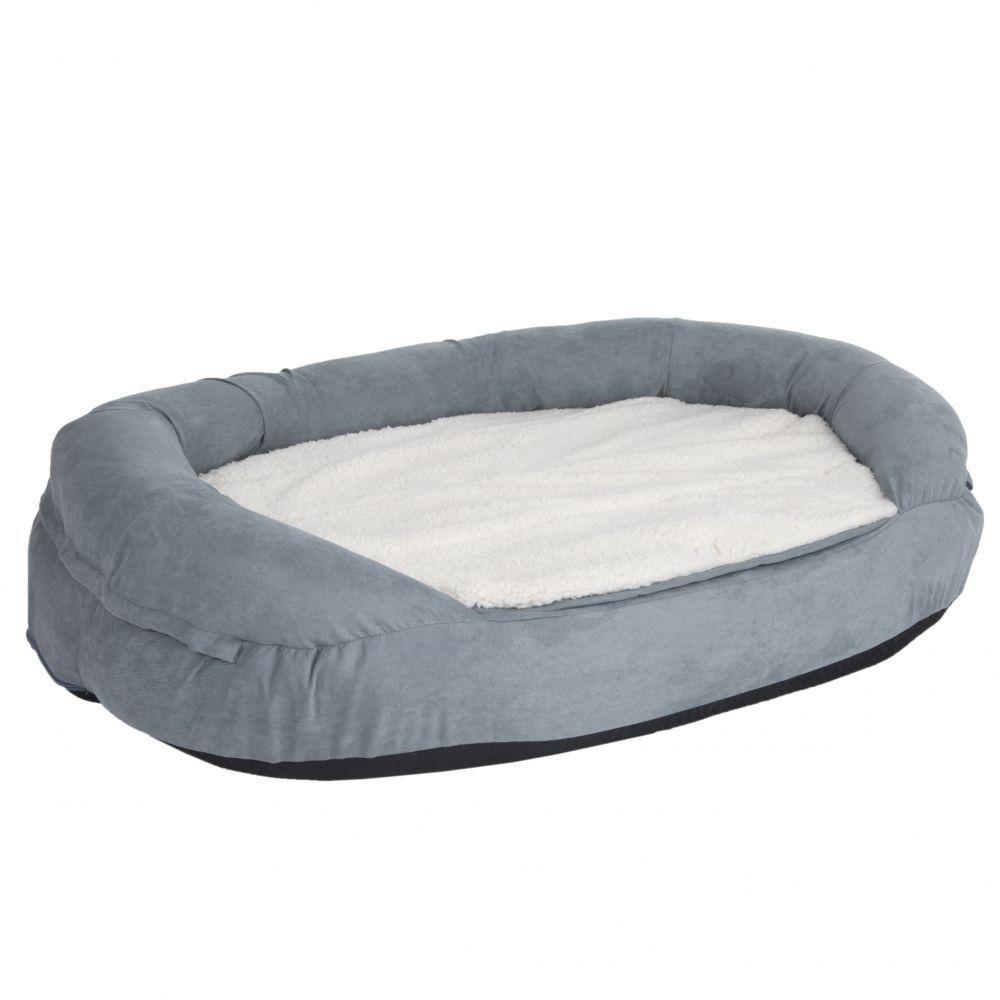 bitiba Letto Memory ovale per gatti - grigio - L 72 x P 50 x H 20 cm