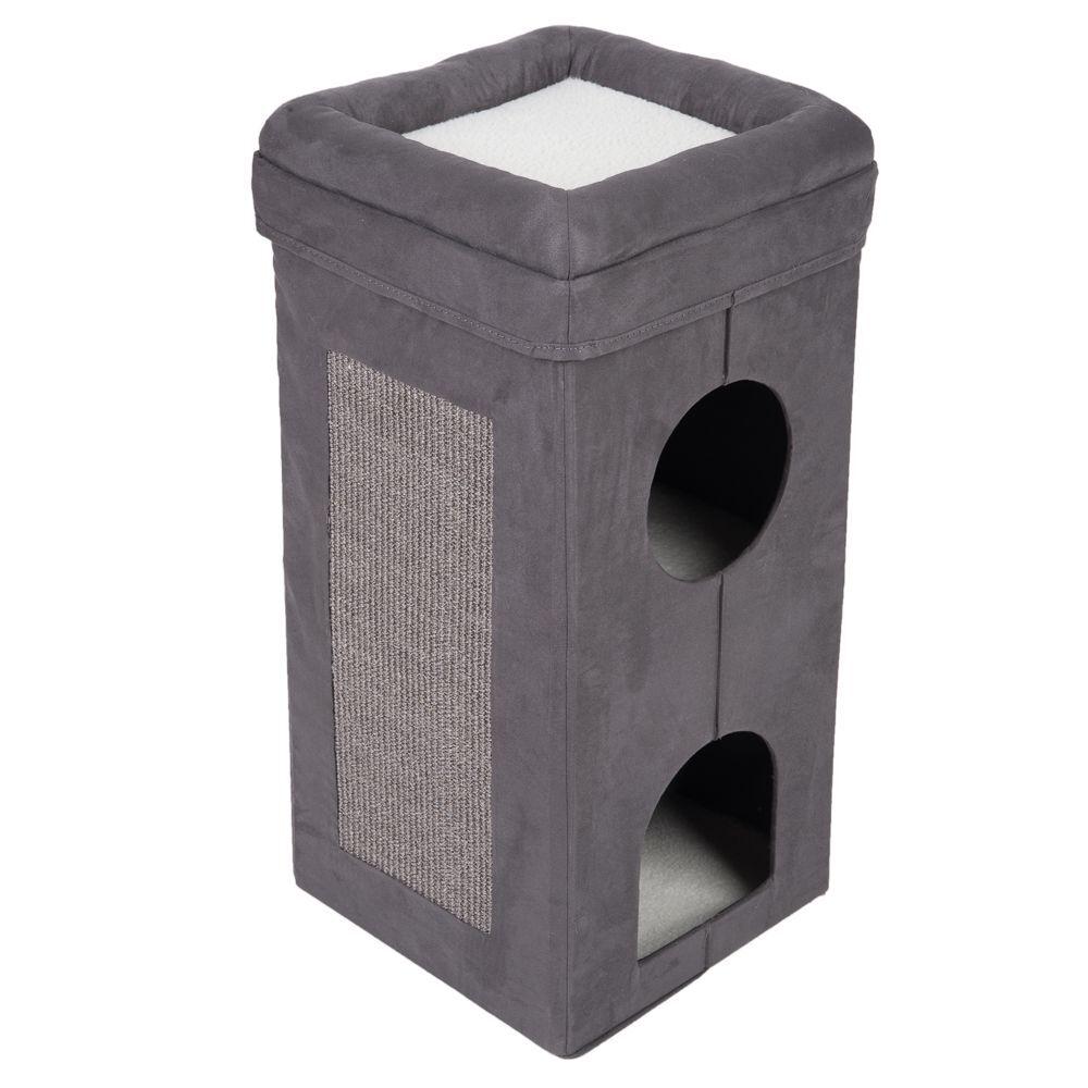 bitiba tiragraffi a torre pieghevole soffice e ruvido - grigio scuro / bianco