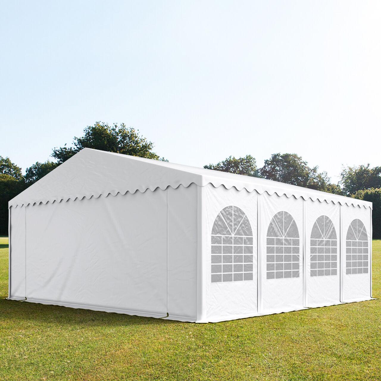 Toolport Tendone per Feste 8x8m PVC 550 g/m² bianco sì