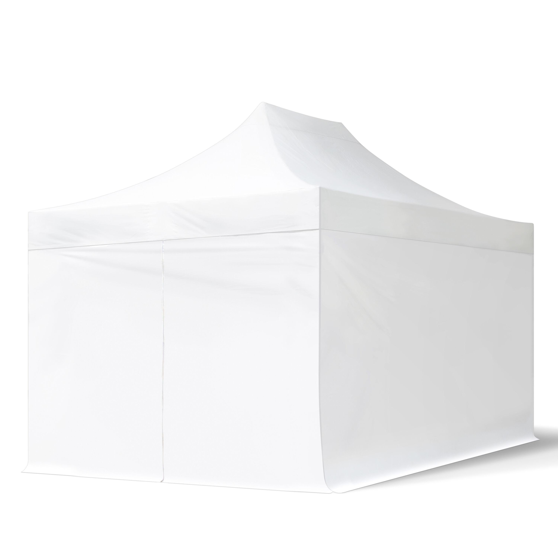 tendapro.it Gazebo Pieghevole 3x4,5m bianco Padiglione Richiudibile Automatico