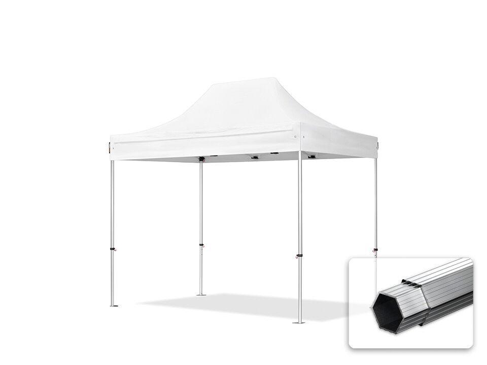 Toolport Gazebo Pieghevole 3x2m Poliestere di alta qualità 400 g/m² bianco sì