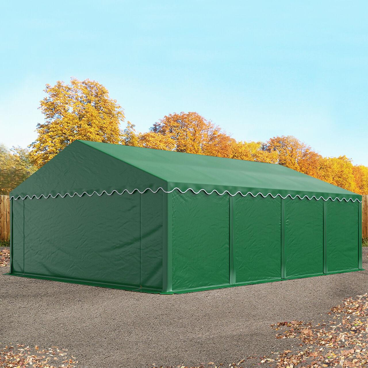 Toolport Tende Capannone 5x8m PVC 500 g/m² verde sì