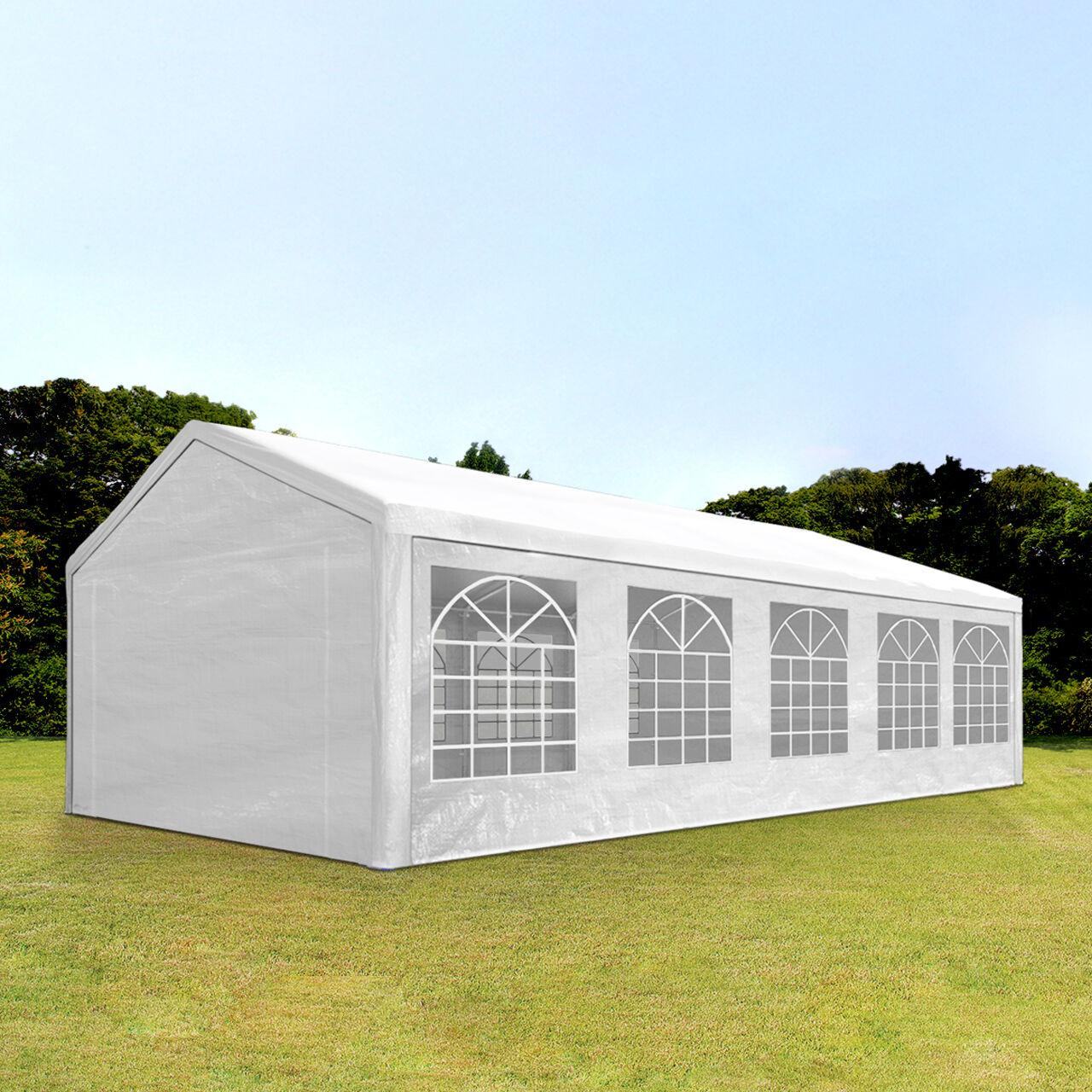 Toolport Tendone per Feste 4x10m PE 180g/m² bianco impermeabile