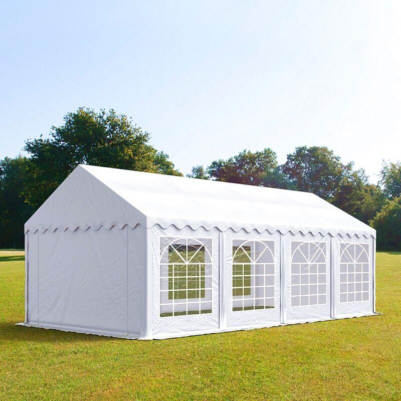toolport tendone per feste 4x8m pvc 500 g/m² bianco sì