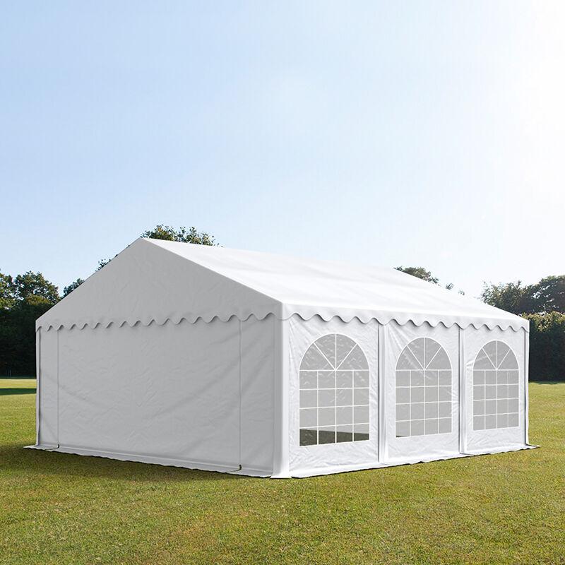 toolport tendone per feste 6x6m pvc 500 g/m² bianco sì