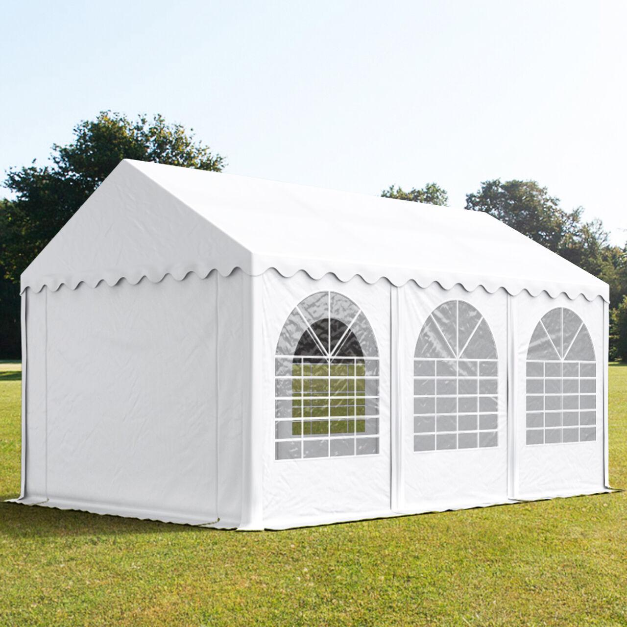 toolport tendone per feste 3x6m pvc 550 g/m² bianco sì
