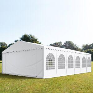 Toolport Tendone per Feste 8x12m PVC 550 g/m² bianco impermeabile