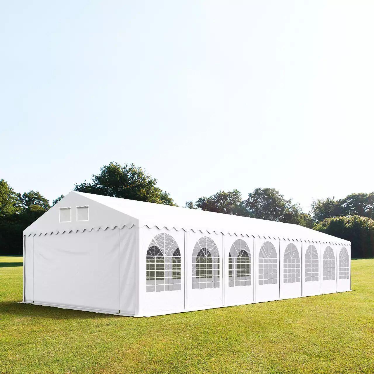 Toolport Tendone per Feste 6x24m PVC 550 g/m² bianco impermeabile