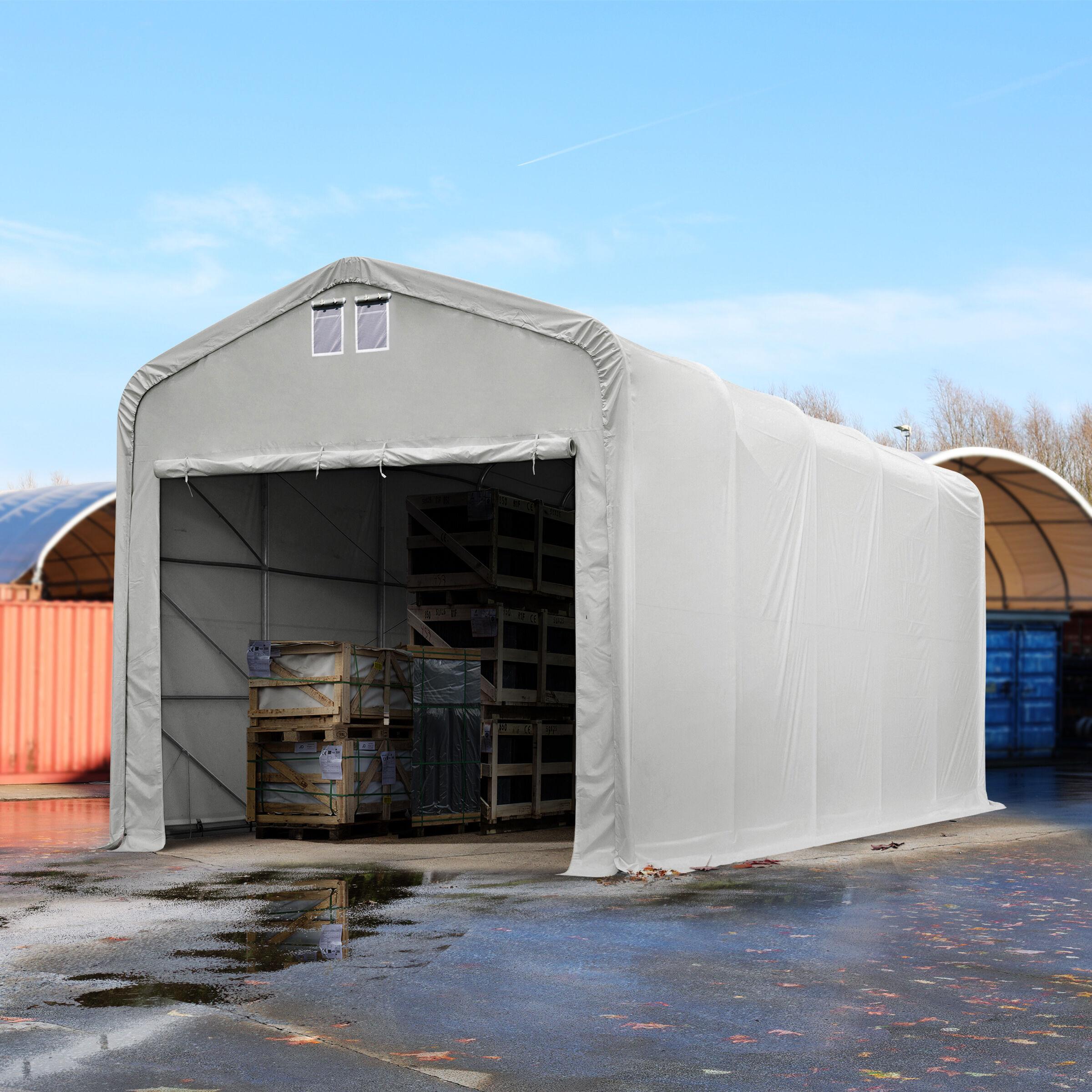Toolport Tendostruttura 5x10m PVC 720 g/m² grigio sì