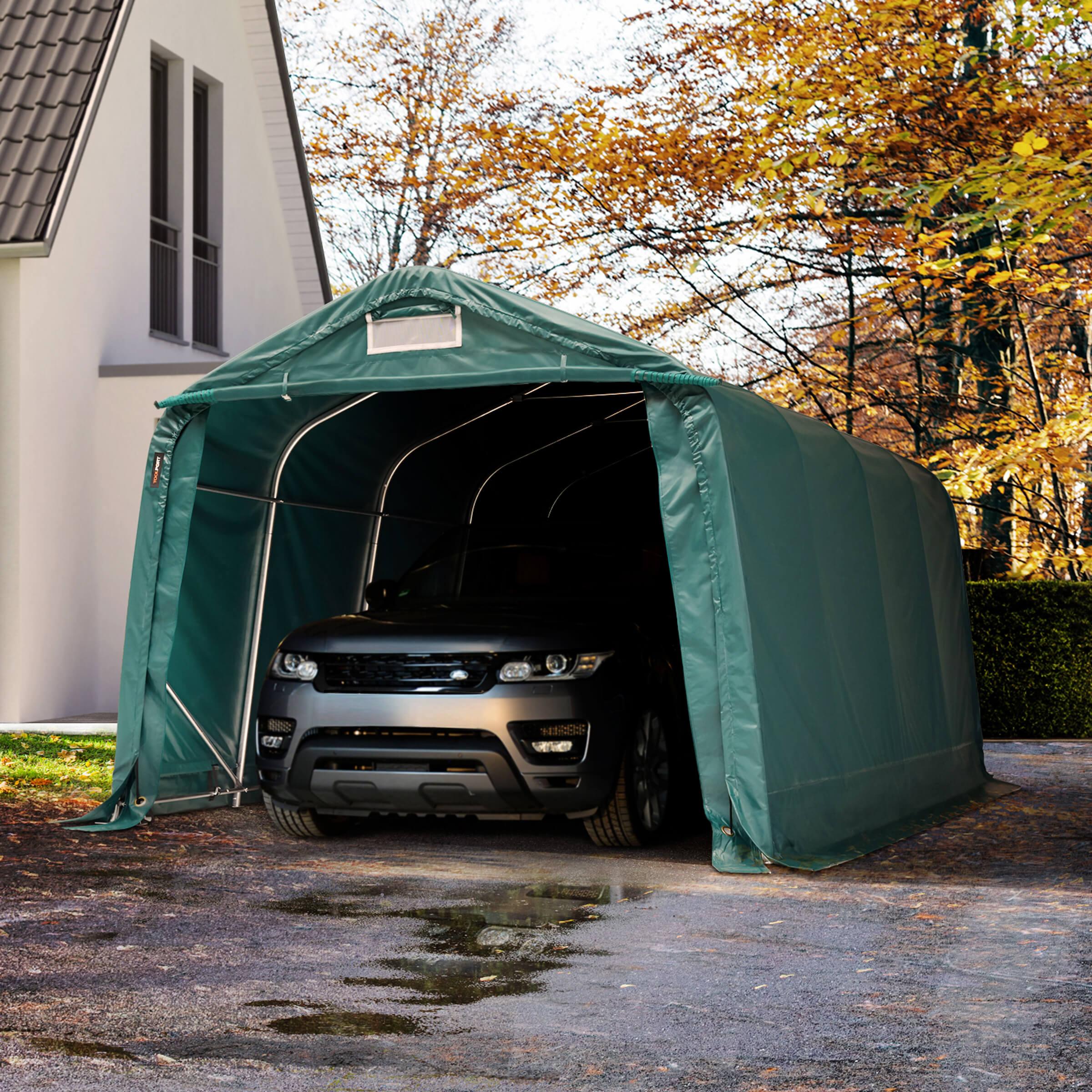 Toolport Tenda Garage 3,3x4,8m PVC 720 g/m² verde sì