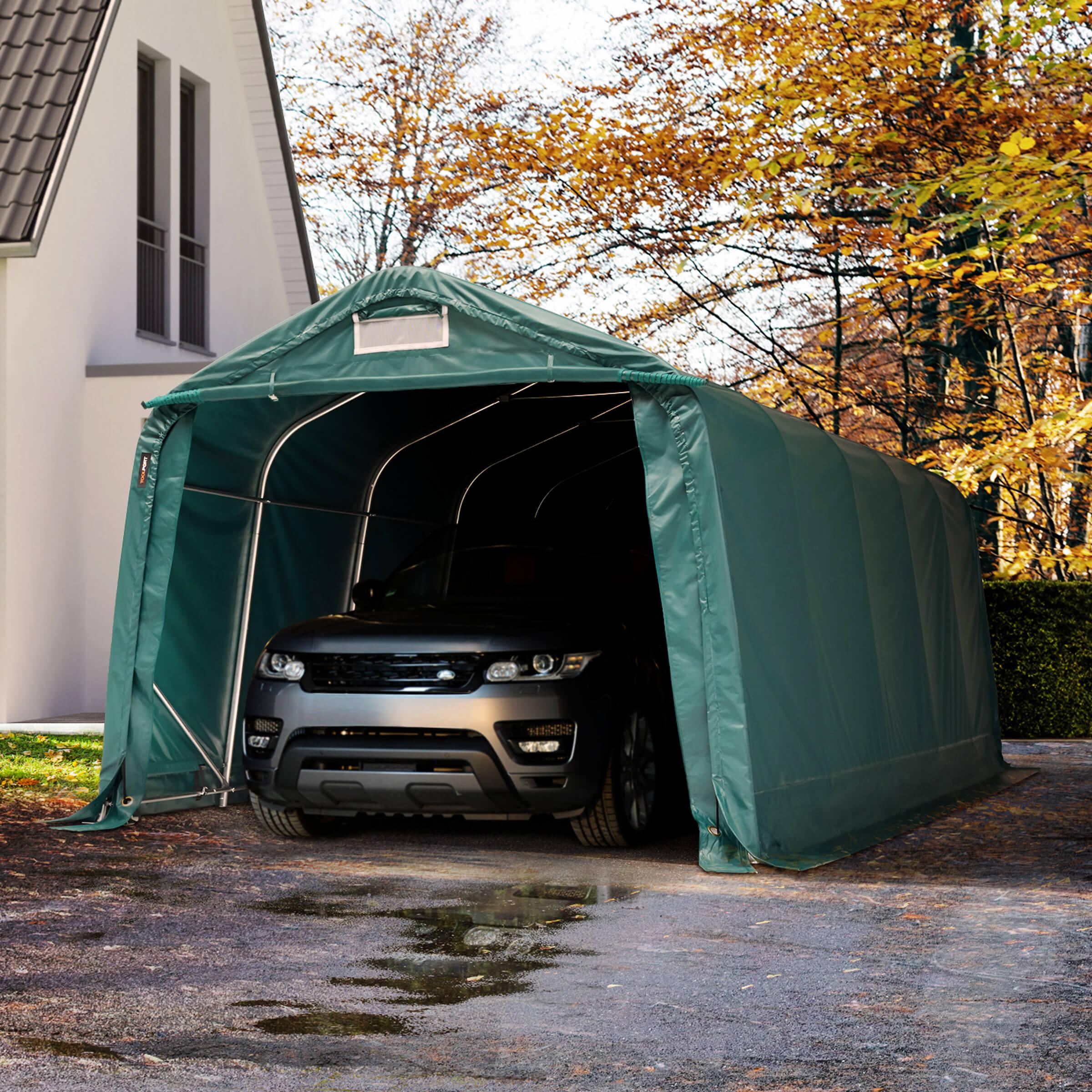 Toolport Tenda Garage 3,3x6,0m PVC 720 g/m² verde sì
