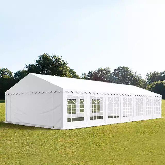 Toolport Tendone per Feste 6x14m PVC 500 g/m² bianco impermeabile