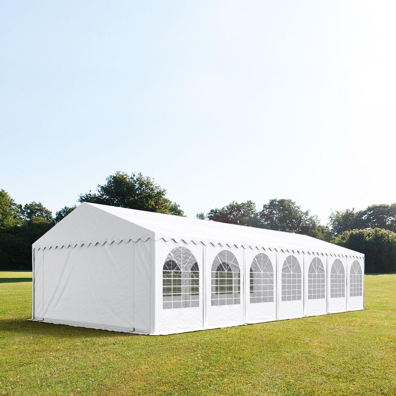 Toolport Tendone per Feste 6x14m PVC 550 g/m² bianco impermeabile