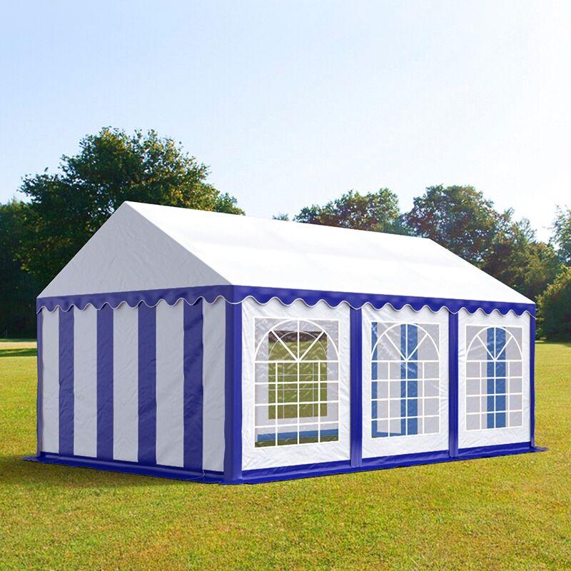 tendapro.it Tendone 3x6m PVC bianco-blu Gazebo per Feste e Giardino