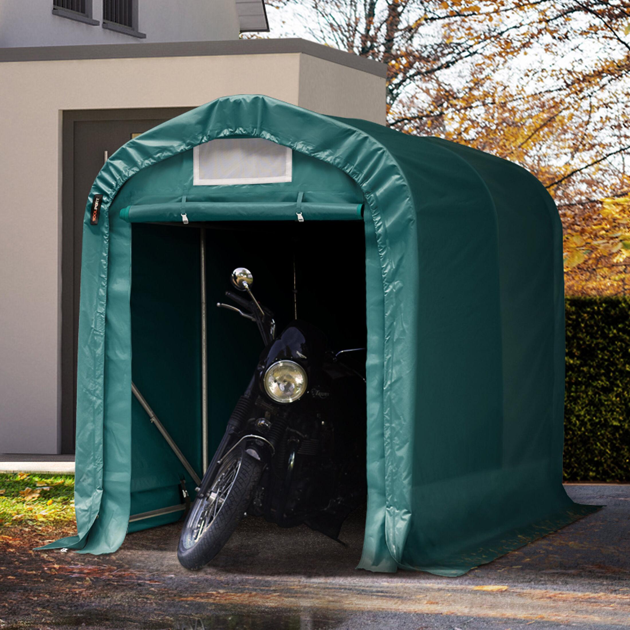 Toolport Tenda Garage 1,6x2,4m PVC 550 g/m² verde sì