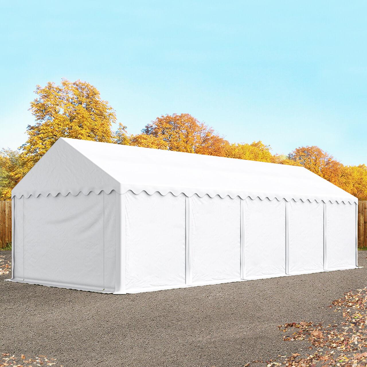 Toolport Tende Capannone 4x10m PVC 500 g/m² bianco impermeabile