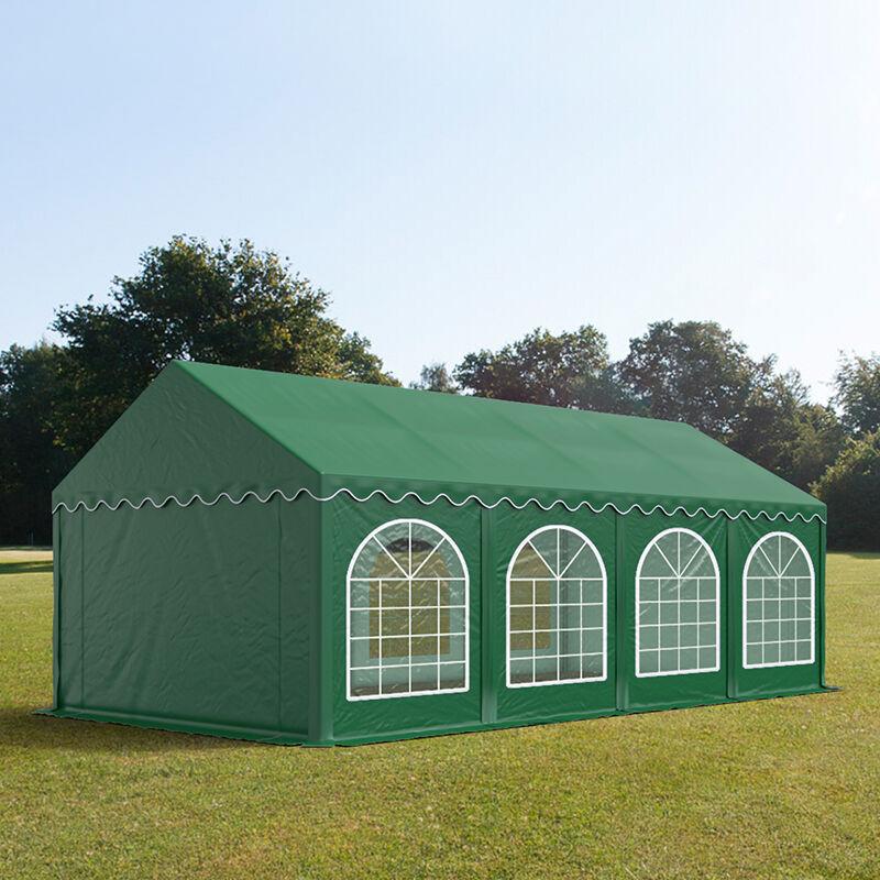 Toolport Tendone per Feste 4x8m PVC 500 g/m² verde impermeabile