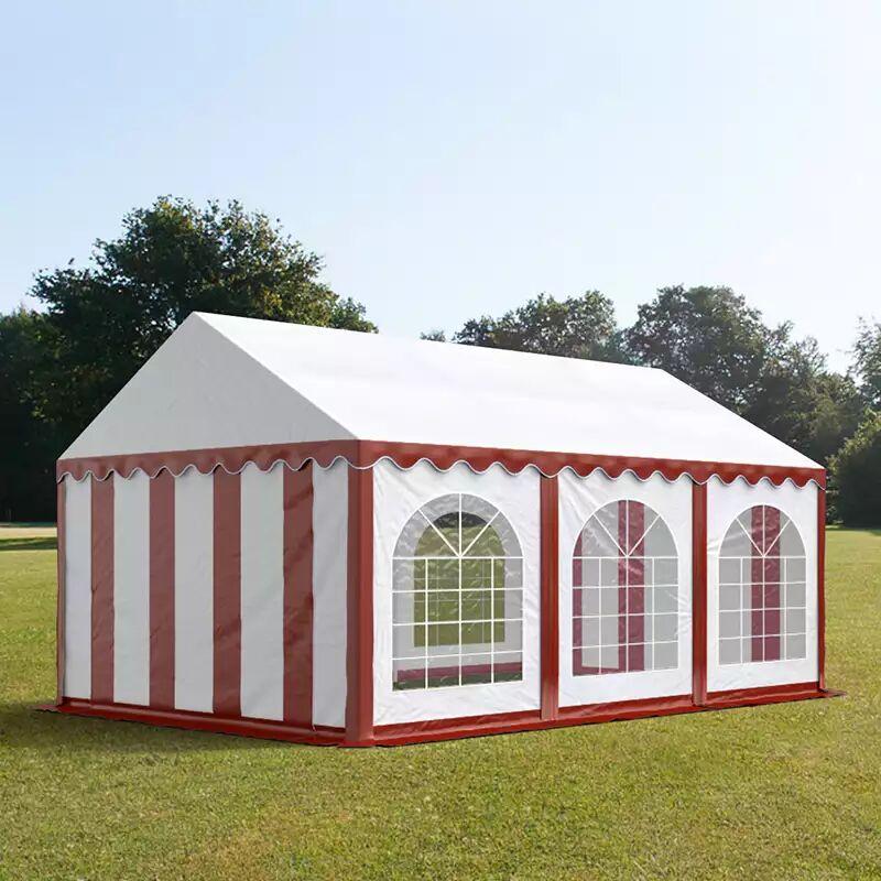tendapro.it Tendone 3x6m PVC bianco-rosso Gazebo per Feste e Giardino