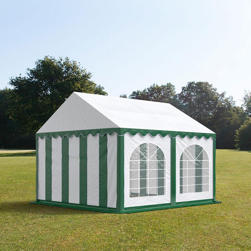 tendapro.it Tendone 3x4m PVC bianco-verde Gazebo per Feste e Giardino