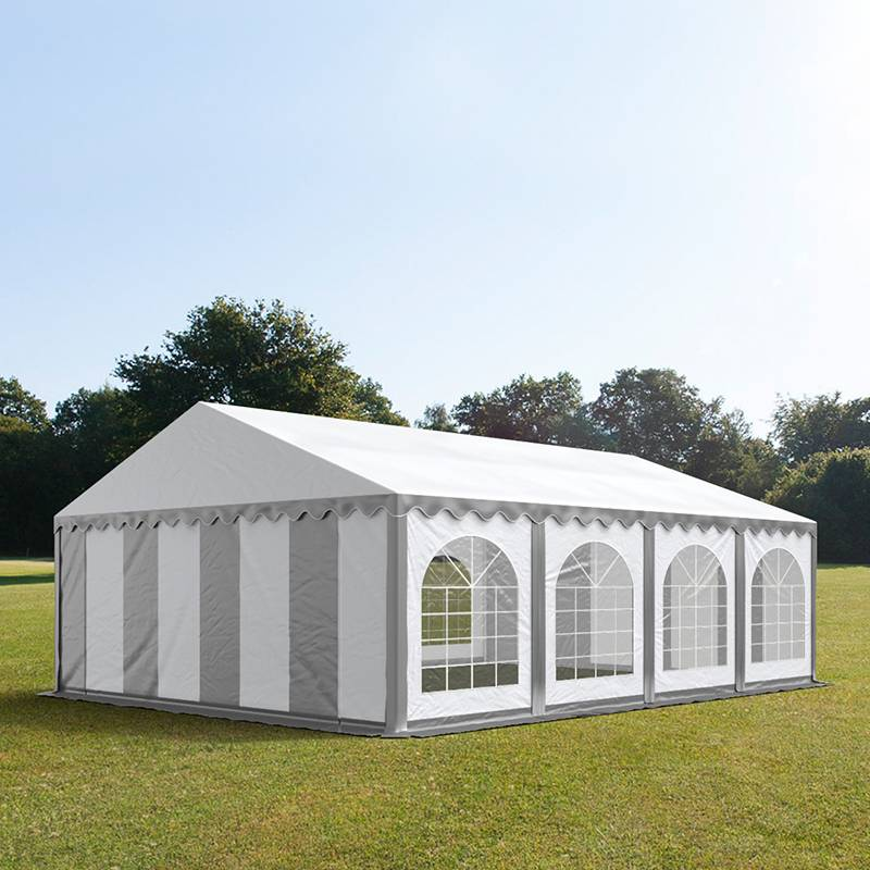Toolport Tendone per Feste 5x8m PVC 500 g/m² bianco impermeabile