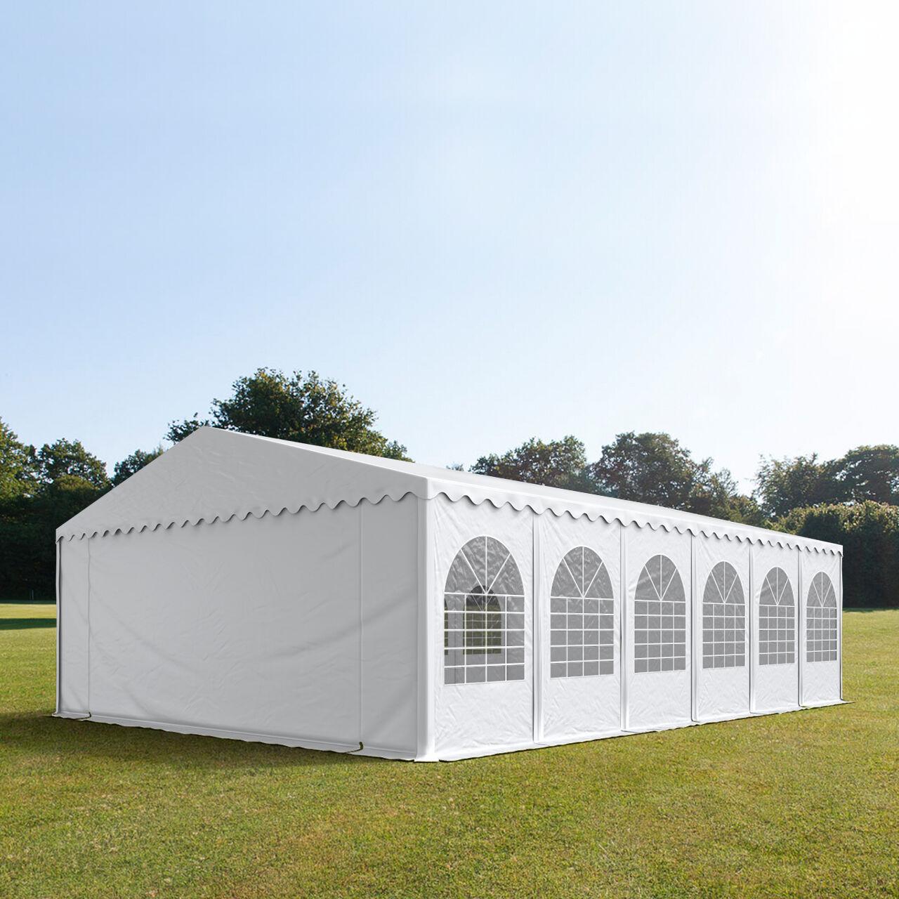 Toolport Tendone per Feste 7x12m PVC 550 g/m² bianco impermeabile