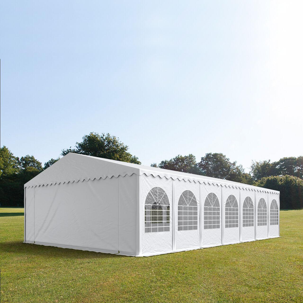 Toolport Tendone per Feste 7x14m PVC 550 g/m² bianco impermeabile