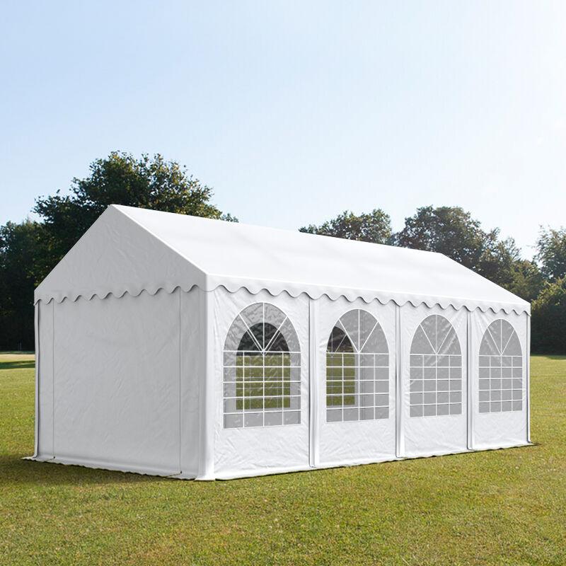 Toolport Tendone per Feste 3x8m PVC 550 g/m² bianco impermeabile
