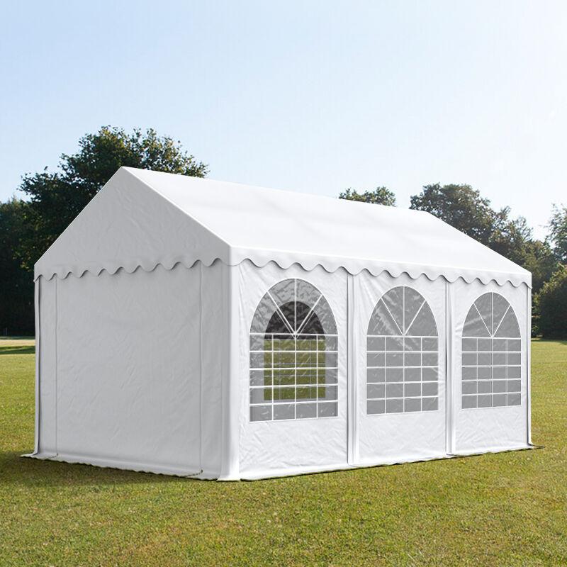 Toolport Tendone per Feste 4x6m PVC 550 g/m² bianco impermeabile
