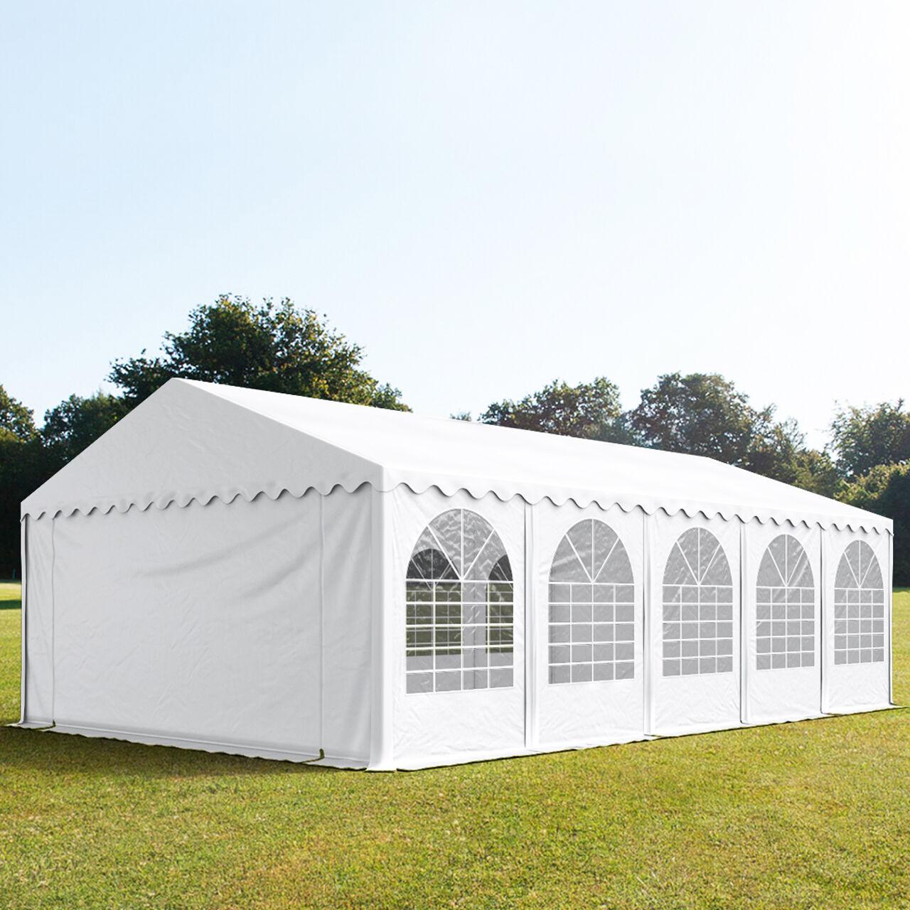 Toolport Tendone per Feste 5x10m PVC 550 g/m² bianco impermeabile
