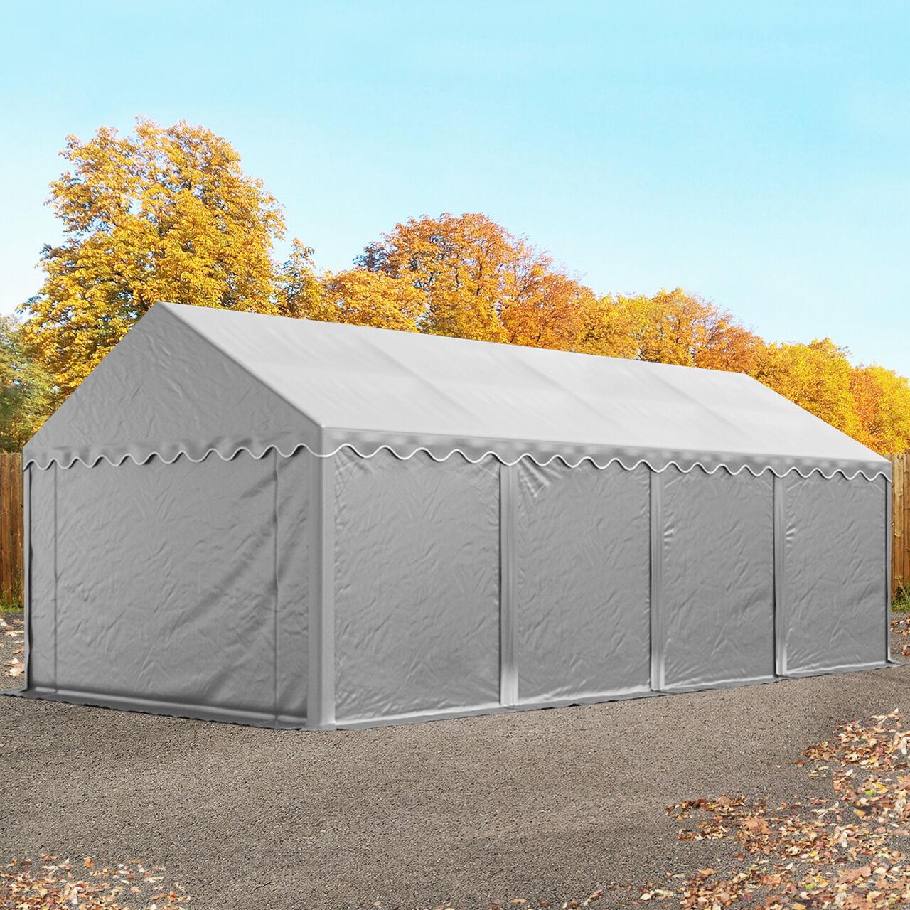 Toolport Tende Capannone 4x8m PVC 550 g/m² grigio sì