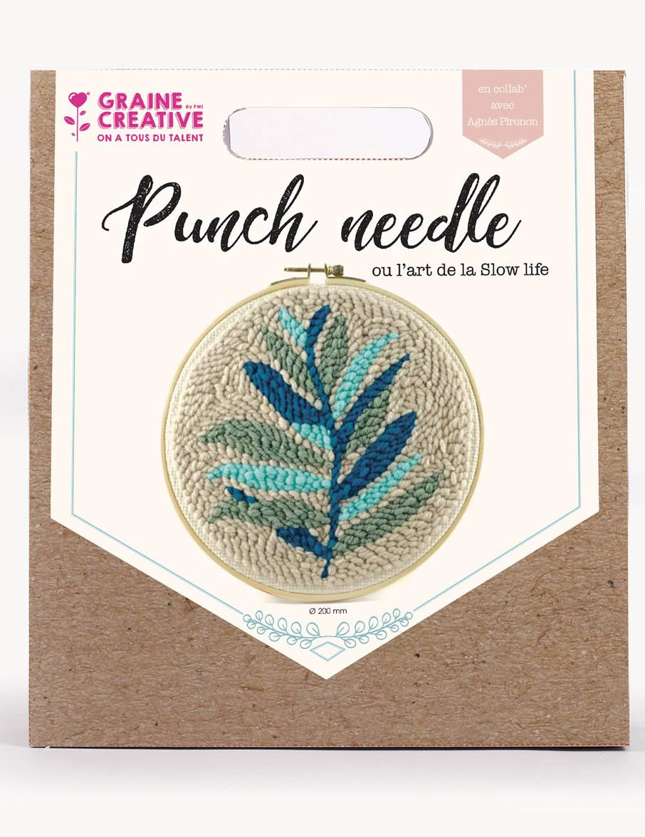 VegaooParty.it Kit cucito Punch Needle foglie verdi