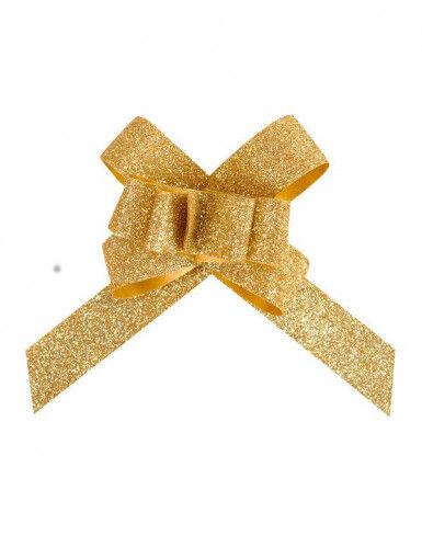 10 Fiocchi glitterati dorati
