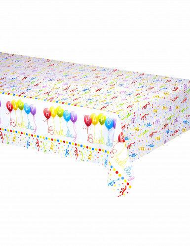 Tovaglia di plastica Happy Birthday da 120 x 180 cm