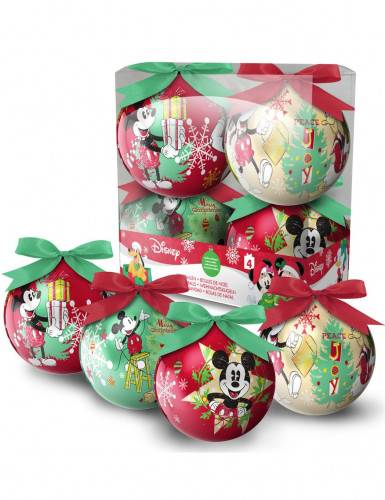 4 palline di Natale di Topolino
